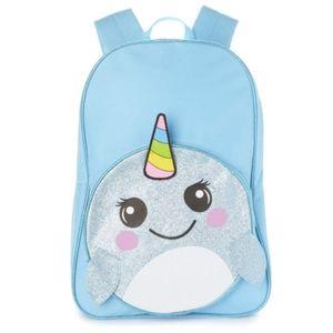 NWT Kids Aqua Narwhal Backpack